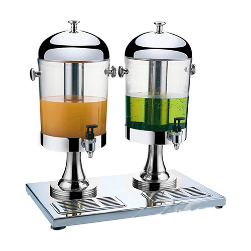 S/S Double Juice Dispenser with Silver Stand