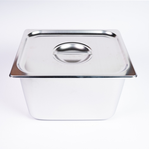 "GN Pan S/S Food Dish With Lid Half  (4"")"