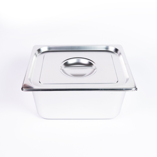 "GN S/S Food Dish W/Lid 6"" Half (Curry)"