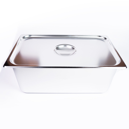"GN Pan S/S Food Dish  With  Lid 8"" Rice"