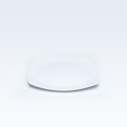 4820 Dankotuwa Square White Dinner Plate 10.5""