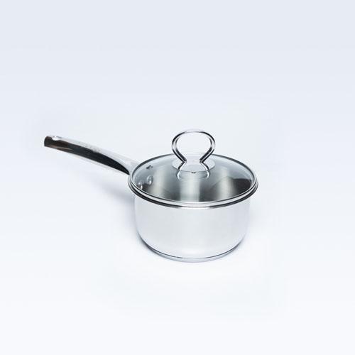 S/S Sauce Pan W/Glass Lid Allura 14cm S/B