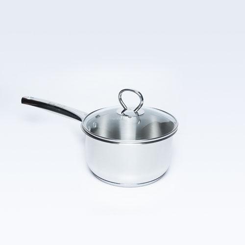 S/S Sauce Pan W/Glass Lid Allura 16cm S/B