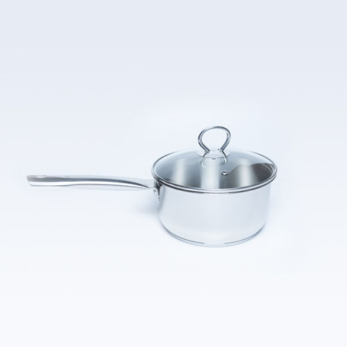 S/S Sauce Pan W/Glass Lid Allura 18cm S/B