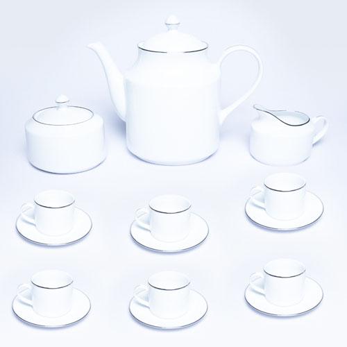 14501-00-H Cherry -R- AVI Platinum 17 PCS Tea Set H