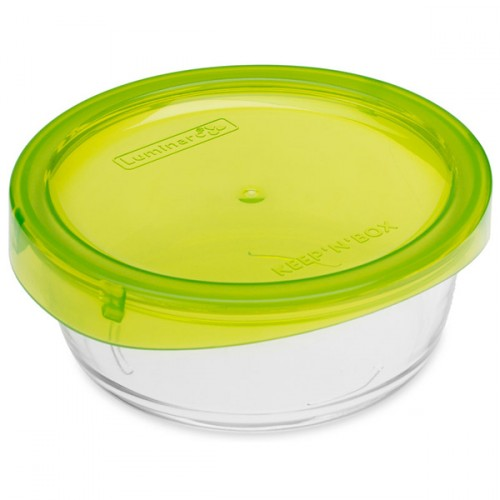 Luminarc Tempered Glass Round Storage Dish With Plastic Lid 390ml