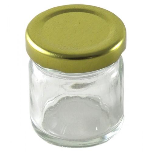 Glass Mason Jar 1.5Oz Jam Jar