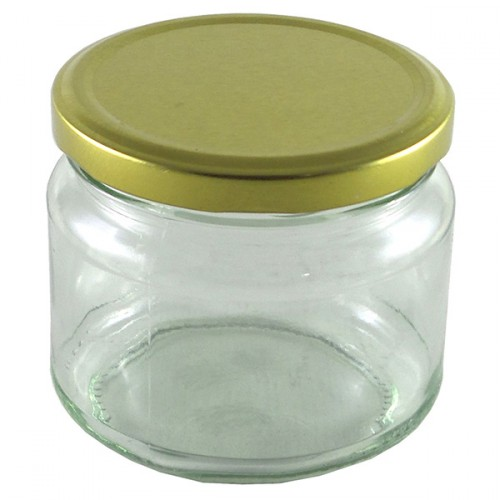 Glass Mason Jar 300ml Squat Jar