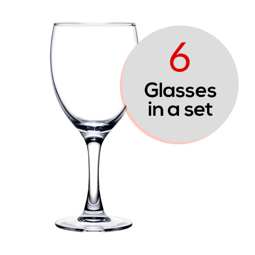 6 pcs Set Elegance Goblet 350ml