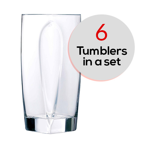 6 pcs Set Flame Hb Tumbler 300ml