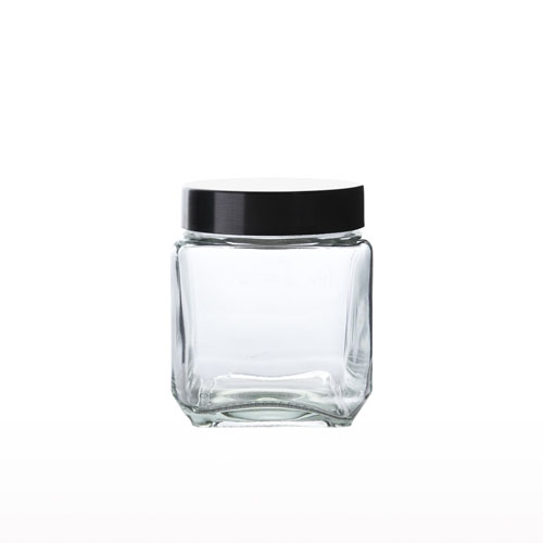 Glass Bottle Square Sm 500ml 9908S