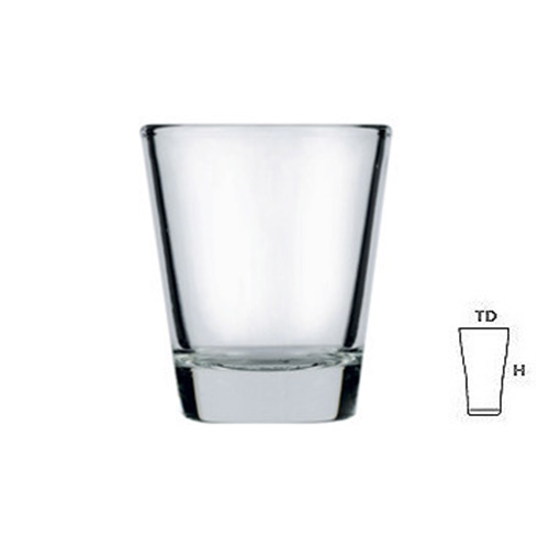 Lucky Glass LG43 Shot Glass 2oz. 58ml