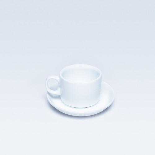 389/387 White Tea Cup & Saucer RD ( Dankotuwa)
