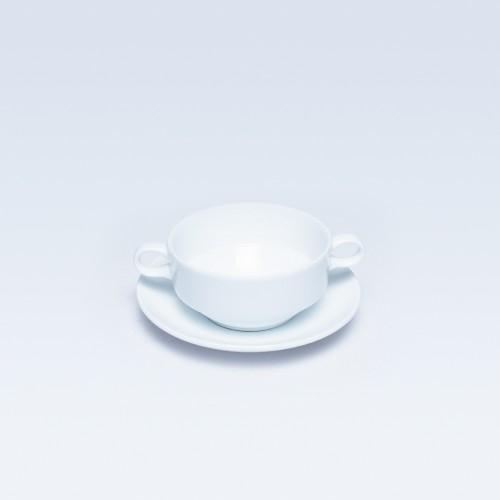 398/277 White Soup Cup & Saucer RD (Dankotuwa)