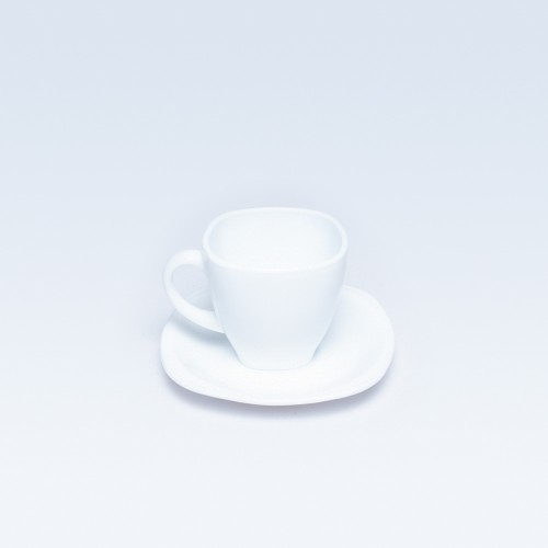 White Cup & Saucer (Square)